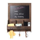 الخشب السبورة السبورة الجدار المذكرة رسالة ملحوظة رسم لوحة تخزين الطباشير حامل مع 3 خطاطيف