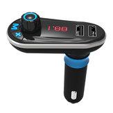 Kit voiture Bluetooth Lecteur MP3 Transmetteur FM Chargeur double voiture USB Télécommande