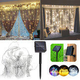 Solar Powered Waterproof Two Installations 300 LEDs Fairy Curtain String Light For Christmas