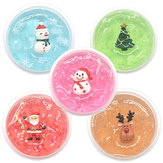 Kiibru Christmas Slime Kid Crystal Mud DIY With Slices Filler