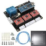 Tablero de controlador USB de 3 ejes paso a paso motor para DIY Láser Máquina de grabado Tablero de control de 3 ejes