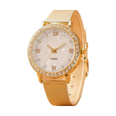Women Crystals Roman Numeral Alloy Band Watch