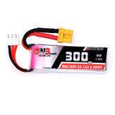 Gaoneng 7.6V 300mAh 80C/160C 2S HV 4.35V XT30 Lipo Battery for BETAFPV Whoop Quadcopter