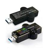 DigitalUSB3.0TesterIPSPantallade color Voltímetro Amperímetro Cargador Detección de potencia Instrumento Banco de potencia Indicador de carga