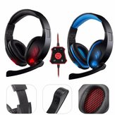 Gaming Headset 7.1Ch Stereo Foldable Headbrand Headphone USB LED With Mic