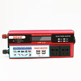 Original 6000W DC 12V/24V to AC 220V Power Inverter Digital Modified Sine Wave 4 USB Port 2 Sockets