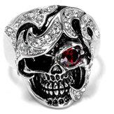 Bijouxfantaisiepourbijouxenacier inoxydable Crum Head Zircon Ring for Men