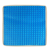 Blue Car Big Square Cooling Seat Cushion Gel Universal Chair Cover Pad Mat for Car Office