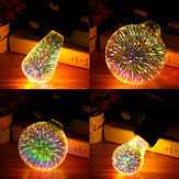 Original E27 6W Colorful Vacaciones de Navidad 3D LED Firework Light Home Decorative Lámpara LED Bombilla