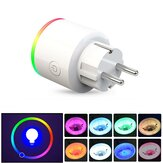 AC100-250V 16A EU Estadísticas de electricidad RGB Scene Light Smart Wifi Enchufe Interruptor temporizador de teléfono móvil Enchufe