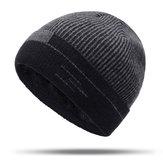 Men Women Winter Warm Thicken Plus Velvet Knit Skullcap Hat