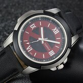 YAZOLE 383 Leather Strap Luminous Casual Male Quart Watch
