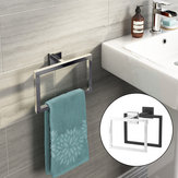 Chrome Modern Cuarto de baño Accesorios de pared Square Toalla Ring Holder Rack