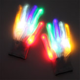 Halloween LED Перчатка Танцы Этап LED Palm Light Up Flash Finger Tip для DJ Club Party Props
