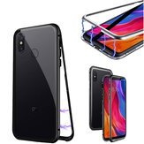 Bakeey 360° Magnetic Adsorption Flip Metal Clear Tempered Glass Protective Case for Xiaomi Mi8 Mi 8