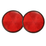 2pcs 2inch Round Reflectors Red Universal For Motorcycles ATV Dirt Bikes