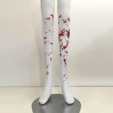 Halloween Simulation Blood Socks Cosplay Nurse Zombie Fancy Dress Ball Bloody Stockings