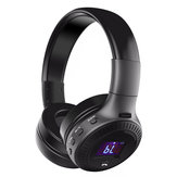 B19 HiFi Wireless bluetooth Headphone LED Display Noise Cancelling TF Card Stereo Earphone Headset