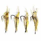 ZANLURE 4cm Señuelo de la Pesca en Forma de Camarón Suave