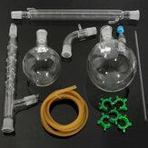 1000mL24/29الزجاجفراغالتقطيراستخراج جهاز تقطير طقم أدوات مختبر الزجاج مجموعة