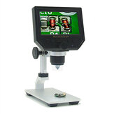 Mustool G600 Digital 1-600X 3.6MP 4.3inch HD LCD Display Microscope Continuous Magnifier with Aluminum Alloy Stand Upgrade Version