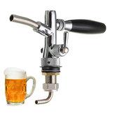 Adjustable Draft Beer Faucet Home Brew Dispenser with Flow Controller For Keg Tap G5/8 Shank