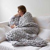 Couverturestricotéespartricotfaitmain de 80x100CM Soft coton épais jettent le décor de lit de sofa