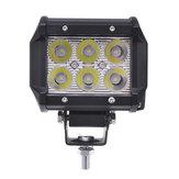 4Inch 18W LED Lampe de travail à barre de travail à barre lumineuse de travail 12V 1500LM blanc pour remorque de VTT Jeep SUV