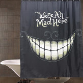 Waterproof Smile Halloween Polyester Shower Curtain Bathroom Decor with 12 Hooks