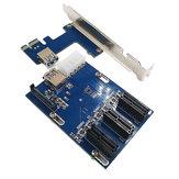 PCI-E 1X 확장 키트 1 ~ 3 포트 PCI-E Express X1 슬롯 보드 0.6m USB3.0 케이블
