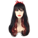 Cosplay Wigs Black Gradient Red Halloween Party Full Hair With Cap Anime Hair