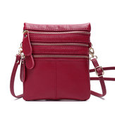 Women Genuine Leather Multi-Function Phone Bag