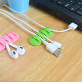 Cable Bakeey de Organizador USB de Auricular de Mesa de Silicona Pegajoso de 5 Ranuras Soporte de Administración