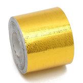 5cmx10m Fita Refletiva Fria de Calor 500 Graus Ouro de Proteção de Calor