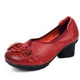 SOCOFY Women Casual Shoes In Leather