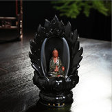 Original Ceramic Backflow Incense Cone Burner Godness Guanyin Buddha Buddhist Censer Holder Fragrant Furnace