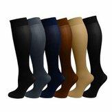 Chaussette à compression 15-20mmHg Prévenir les veines varices Stocking Réduire la douleur Gonfleur Soutien aux jambes sportives