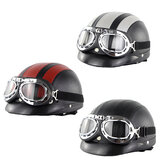 Retro Vintage Motorcycle Helmet With Protective Goggles For Xiaomi M365 Electric Scooter