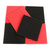 6 Stücke 30x30x2,5 cm Akustische Schalldämmung Schallabsorbierende Geräusch Schaum Fliesen Black & Red