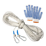 10/15/20/30m Outdoor Survival Safety Paracord Steel Wire Rope Carabiner Gloves Emergency Tool Kits