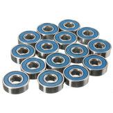 20pcs 608rs ABEC-9 Rodamientos de bolas Patines de ruedas de acero al carbono