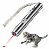 Loskii PT-31  USB Rechargeable Jouets pour Animaux Jouet de Formation de Chat Pointeur Laser avec LED Lampe de Poche