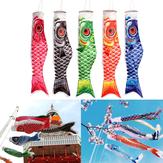 100cm koi nobori carpe vent chaussette koinobori poisson cerf volant drapeau décoration suspendue