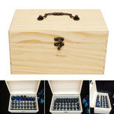 32 Grids Wooden Bottles Box  Container Organizer Storage for Essential Oil Aromatherapy