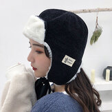 Original vendimia Mujer Winter Warm Plush Earmuffs Trampero Sombrero