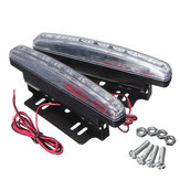 Pair of Car 8 LED Driving Daytime Running Light