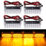 12V 22x4 LED Flash Amber Noodlicht Waarschuwing Strobe Auto Lamp