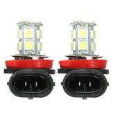 Pair Super White 6000K H11 H8 H9 LED Car Headlight Fog DRL Driving Light Lamp Bulbs