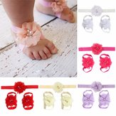 Kids Girl Baby Toddler Headbrand Hair Band Headwear Foot Flower Accessories Set