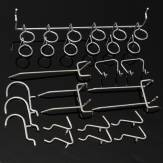 50Pcs Pegboard Display Hooks Assortment Kit  Store Organizing Tools